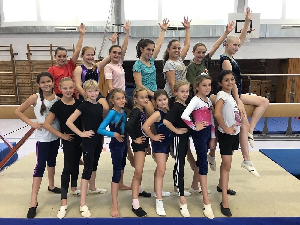 Aufbaugruppe-Mädchen-Gruppenbild